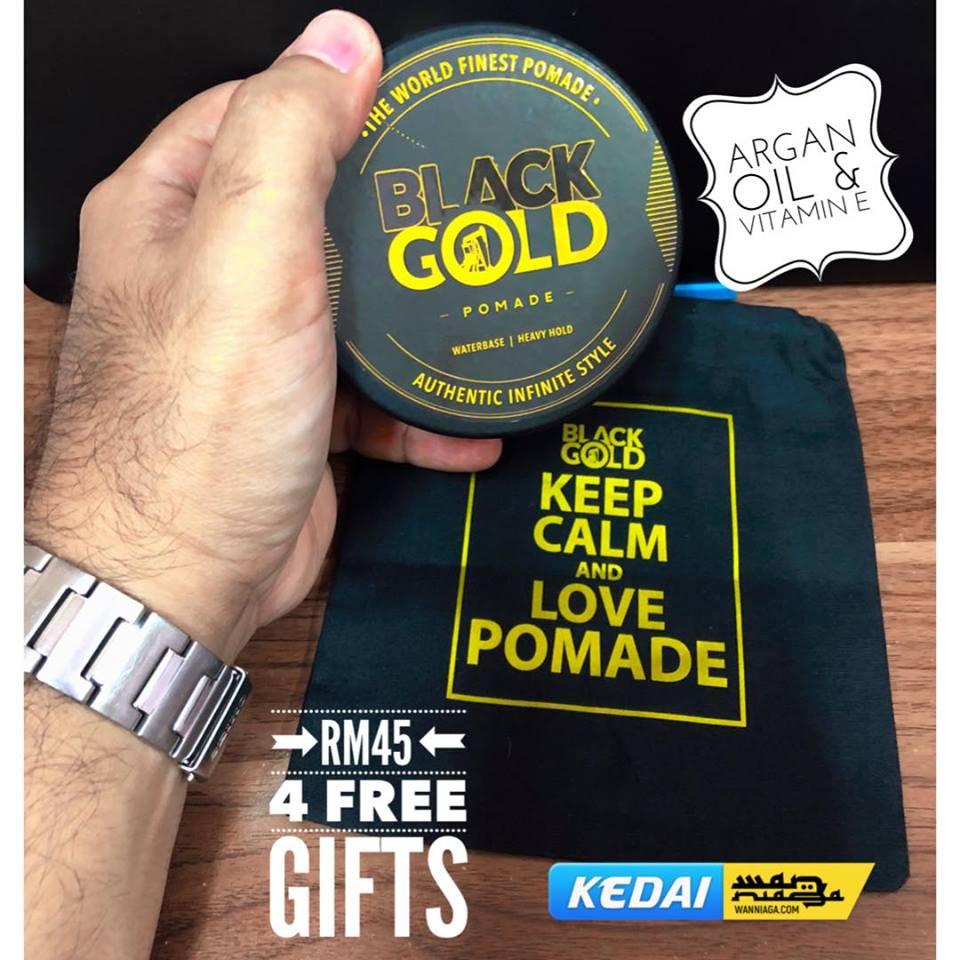 3+1 HADIAH dengan setiap Pembelian Black Gold Pomade! 1