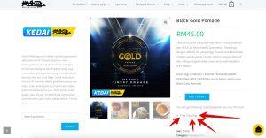 3+1 HADIAH dengan setiap Pembelian Black Gold Pomade! 3