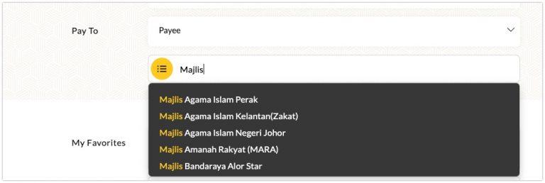 Bayar Zakat Fitrah Melalui Maybank2U 3