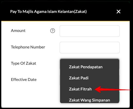 Bayar Zakat Fitrah Melalui Maybank2U 4