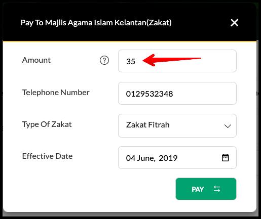 Bayar Zakat Fitrah Melalui Maybank2U 5